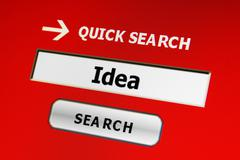 Stock Illustration of search for idea