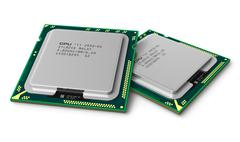 Modern LGA processors - stock illustration
