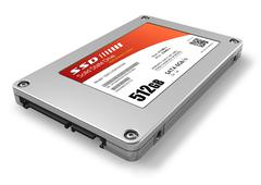 512GB solid state drive (SSD) Stock Illustration