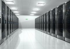 Server room interior - stock illustration