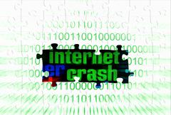 Internet crash puzzle concept Stock Illustration