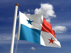 Stock Illustration of panama flag (with clipping path)