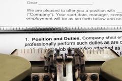 Position and duties Stock Photos