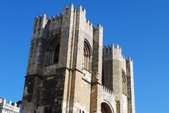 Cathedral in lisbon Stock Photos