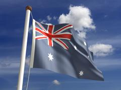 Stock Illustration of australia flag (with clipping path)