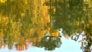 Stock Video Footage of fall lake reflection2