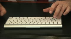 Businessman typing on a keyboard 1 Stock Footage