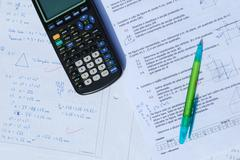 Mathematics exam Stock Photos