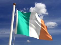 Stock Illustration of ireland flag (with clipping path)