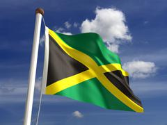 Jamaica flag (with clipping path) Stock Illustration
