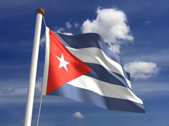 Stock Illustration of cuba flag (with clipping path)