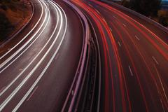 Traffic on a freeway Stock Photos