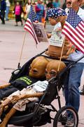 Aliens In America - stock photo