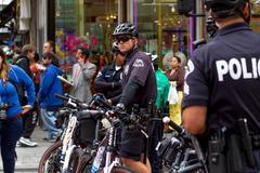 LAPD Officer aikana Rally Kuvituskuvat