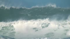 Ocean giant wave Stock Footage