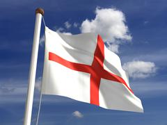 Stock Illustration of england flag (with clipping path)