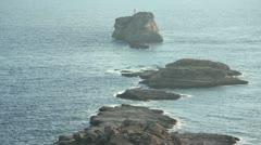Mediterranean shore with rocks Stock Footage