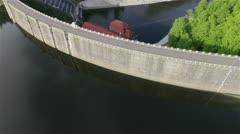 Aerial view of Hydroelectric Plant in Pilchowice,Poland - stock footage