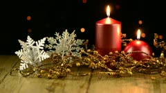 Christmas candles Stock Footage