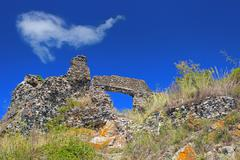 Stock Photo of ruins in the sky