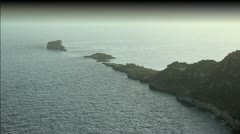 Magical peninsula in the Mediterranean Stock Footage