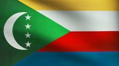 Comoros flag. Stock Footage