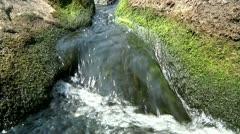 Small waterfall 4 Stock Footage