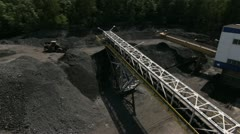 Stock Video Footage of Aerial view of Coal Mine by HeliDog_Aerials