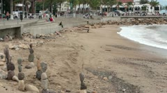 Puerto Vallarta Malecon Boardwalk timelapse fast HD 3733 Stock Footage