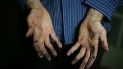 ink cartridge burst broken pen black - stock footage