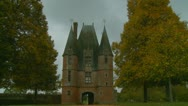 French Chateau on a sombre day (3) Stock Footage