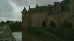Chateau de Carrouges  on a sombre day  (8) - stock footage