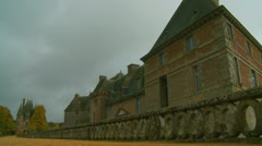 Chateau de Carrouges  on a sombre day  (1) - stock footage
