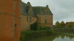 Stock Video Footage of Chateau de Carrouges  on a sombre day  (6)