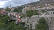 Stock Video Footage of Mostar town view
