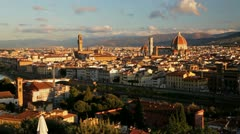 City of Florence and Arno River, Italy Stock Footage