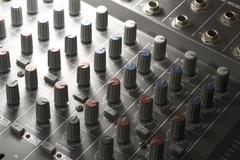 studio mixer detail - stock photo