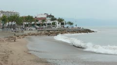 Puerto Vallarta Boardwalk Malecon beach HD 3734 Stock Footage