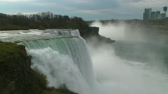 Niagara's American Falls as Seen from the US Stock Footage