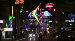 Fremont Street Stock Footage