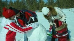 Winter activity Stock Footage