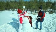 Snowy weekend Stock Footage