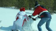 Huge snowball Stock Footage