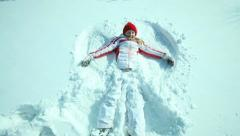 Little snow angel Stock Footage