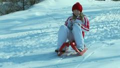 Tobogganing Stock Footage