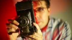 vintage photographer - stock footage