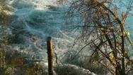 Water Rushes Down the Niagara River Stock Footage