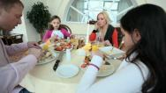 Dinner at home Stock Footage