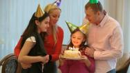 Family birthday party Stock Footage
