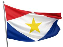 Stock Illustration of saba national flag